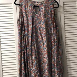 Large Umgee Keyhole Paisley Dress